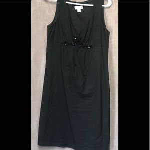 Loft black sleeveless dress sz 8